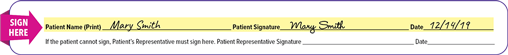 Orenitram referral form signature example