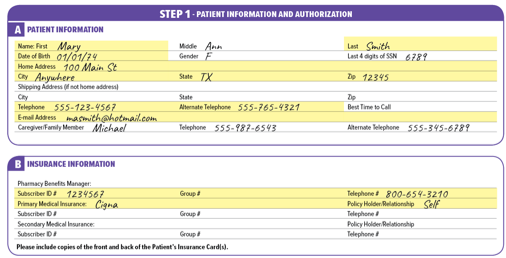 Orenitram referral form sample